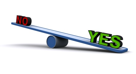 counterpoise: 3D Seesaw  balance concept  Stock Photo