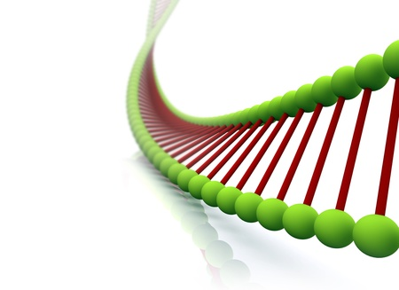 genes: ADN de procesamiento de 3D Foto de archivo