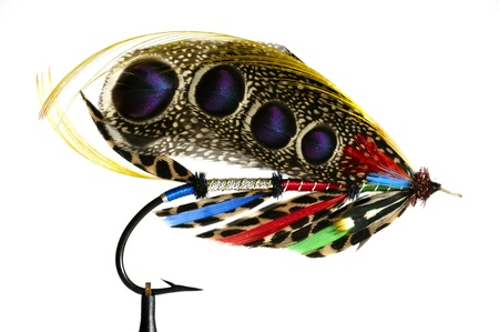 Fly fishing flies  lures for salmon photo