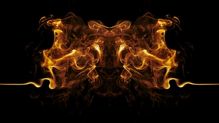 Abstract fire background photo
