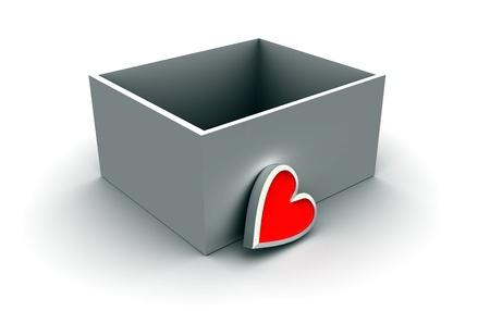 Heart box  photo