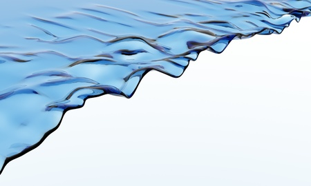 Blue Water Wave isolated on white background photo