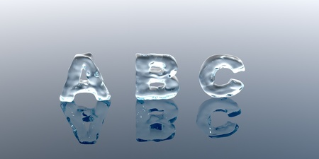 Shine icy font  ice alphabet  photo