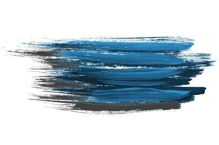 Blue watercolor brush strokes