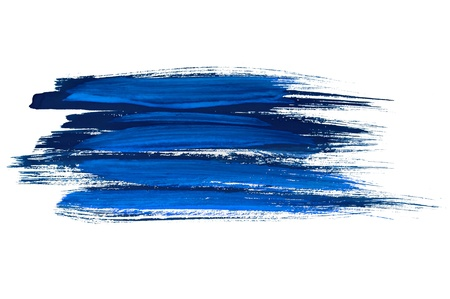 Blue watercolor brush strokes Stock Photo - 9084408