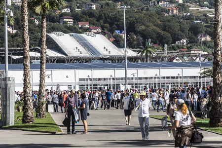 prix: Sochi, Russia -12 November 2014 : Formula One, Russian Grand Prix, Sochiautodrom, 16 stage.