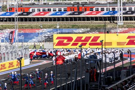 formula one: Sochi, Russia -12 November 2014 : Formula One, Russian Grand Prix, Sochiautodrom, 16 stage.
