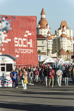 prix: Sochi, Russia -10 November 2014 : Formula One, Russian Grand Prix, Sochiautodrom, 16 stage.