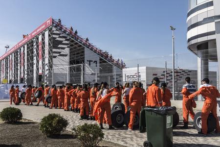 Sochi, Russia -12 November 2014 : Formula One, Russian Grand Prix, Sochiautodrom, 16 stage.