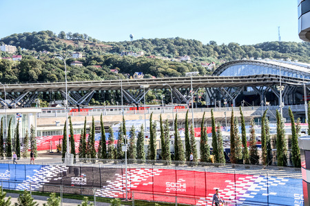 prix: Sochi, Russia -11.10.2014 : Formula One, Russian Grand Prix, Sochiautodrom, 16 stage. Editorial