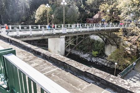 pedestrian bridges: Pedestrian bridge over the river Lashipse.