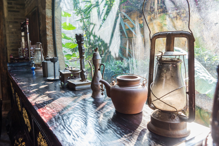Display of Chinese antiques Editorial