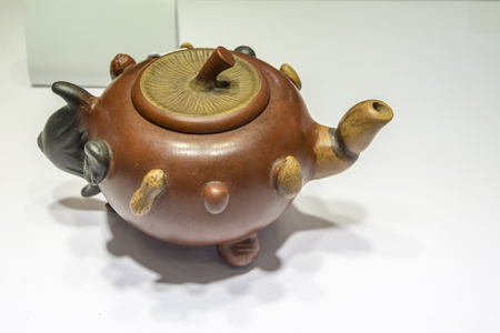 Chinese purple clay teapot, arts of porcelain.