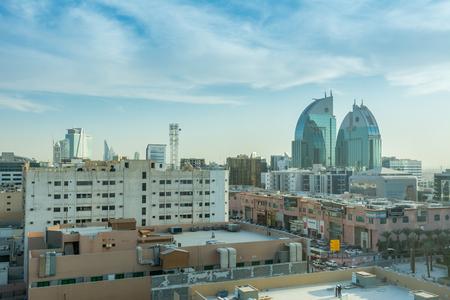Aerial view of Dawn of Riyadh with buildings in Riyadh, Saudi Arabia
