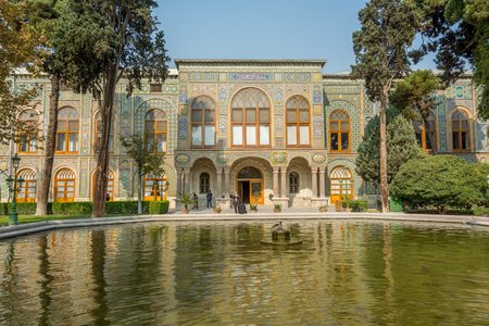 Talar-e-Salam building of Golestan Palace inTehran, Iran,which is a UNESCO World Heritage site