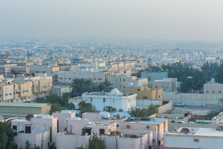 Aerial view of Dawn of Riyadh with buildings Editorial