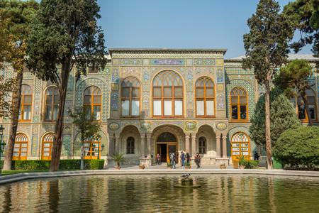 Talar-e-Salam building of Golestan Palace in Tehran, Iran.