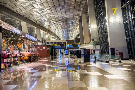 The Soekarno Hatta international airport of Jakarta, Indonesia.