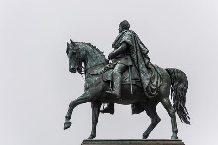 Equestrian statue at the Alte Nationalgalerie in Berlin. An equestrian statue of Frederick William IV in front of the Alte Nationalgalerie Old National Gallery
