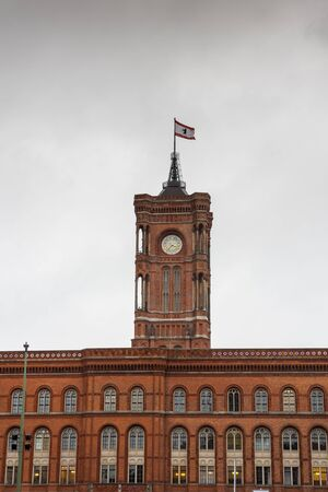 The Red Town Hall (Rotes Rathaus), located in the Mitte district near Alexanderplatz, one of Berlin's most famous landmarks.