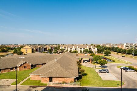Residential area and houses in Dallas Fort Worth, Texas, USA.