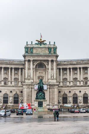 Neue Burg of the Hofburg, the former principal imperial palace of the Habsburg dynasty rulers and today serves as the official residence and workplace of the President of Austria. Redactioneel