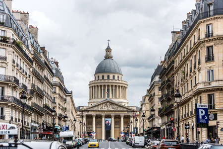 Pantheon building, a monument in the 5th arrondissement of Paris, France.