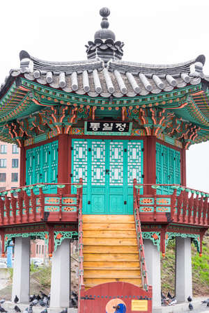 The Pavillon der Einheit (Pavilion of Unity), also called Korean pavilion in the Berlin vernacular, is a monument on Potsdamer Platz in Berlin – Mitte.