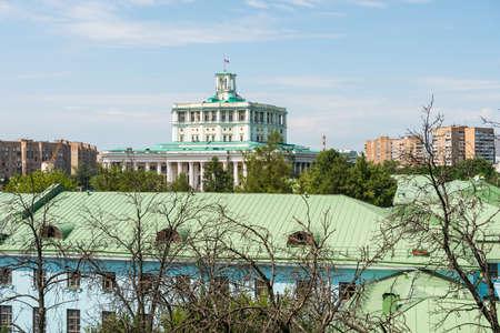 Building of Ekaterininskiy Palace in Moscow, Russia. Redactioneel