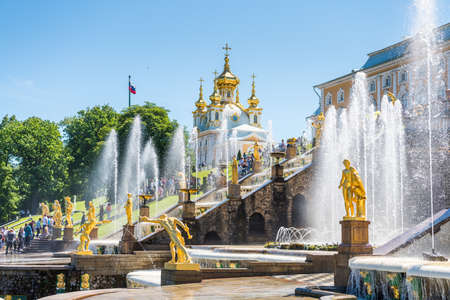 Samson fountain inside of the summer palace of peter the great in Saint Pertersburg, Russia. Editöryel