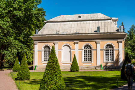 The Grand Orangery in the Lower Park in Peterhof, St.Petersburg that now operates as a restaurant Editöryel