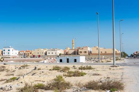 A common residential area built above on the desert near the corniche park in the Dammam, Saudi Arabia