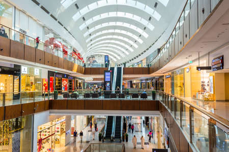 Interiors of Dubai mall, one of the world's largest shopping malls in UAE