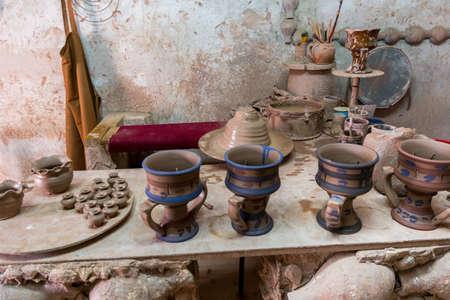 Workshop of ceramic pots in Heritage villages in Abu Dhabi, United Arab Emirates