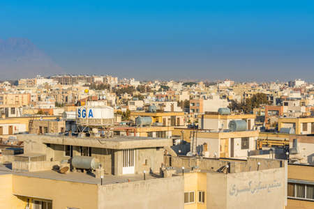 Aerial view of residential building skyline of Isfahan of Iran, one of the most famous historic city in the middle east.