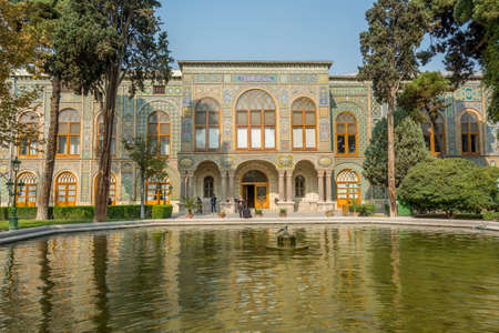 Talar-e-Salam building of Golestan Palace in Tehran, Iran, which is a UNESCO World Heritage site