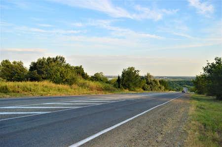 An empty road. High quality photo Foto de archivo