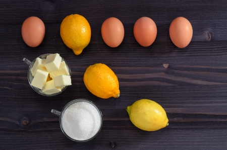 summer pudding: Ingredients for cooking cream From series French Desserts Stock Photo