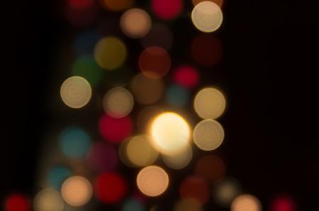 Night city street lights. Abstract circular bokeh background of Christmaslight photo