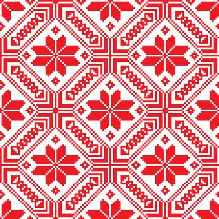belorussian: Belorussian ethnic ornament, seamless pattern.  Illustration