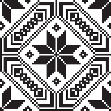 polish lithuanian: Belorussian ethnic ornament, seamless pattern.  Illustration