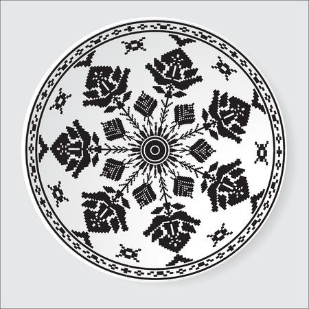 belorussian: Belorussian ethnic ornament pattern.  Illustration