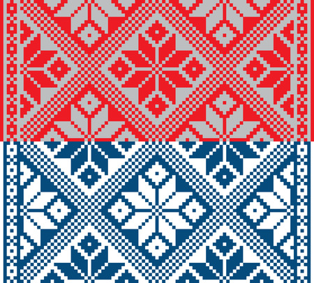 belorussian: Belorussian ethnic ornament, seamless pattern. Vector illustration. From collection of Balto-Slavic ornaments Illustration