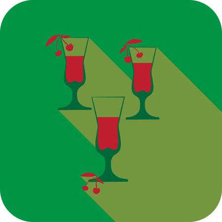 likeur: Drie glazen likeur platte ontwerp gestileerde vector partij drankje pictogram, Het beste voor uw ontwerp, flyers, onderzetters, prenten