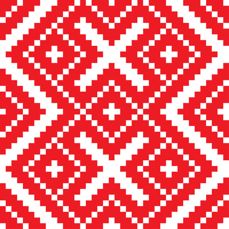 Belorussian ethnic ornament, seamless pattern. Vector illustration. From collection of Balto-Slavic ornaments Ilustração