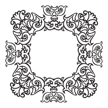 majolica: Hand drawing zentangle element. Italian majolica style Black and white. Flower mandala. Vector illustration. The best for your design, textiles, posters, tattoos, corporate identity Illustration
