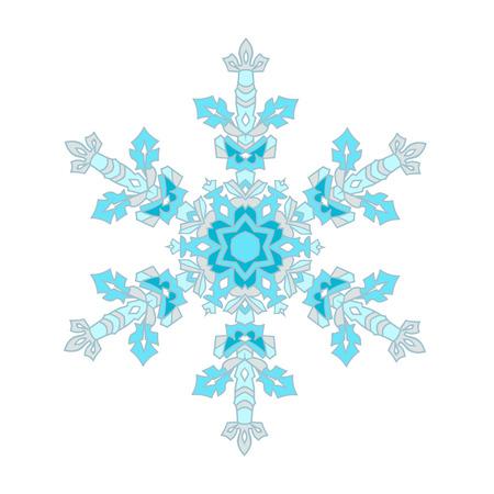 natural color: Hand-drawn doodles natural color snowflake.