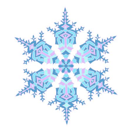 natural color: Hand-drawn doodles natural color snowflake. Zentangle mandala style.