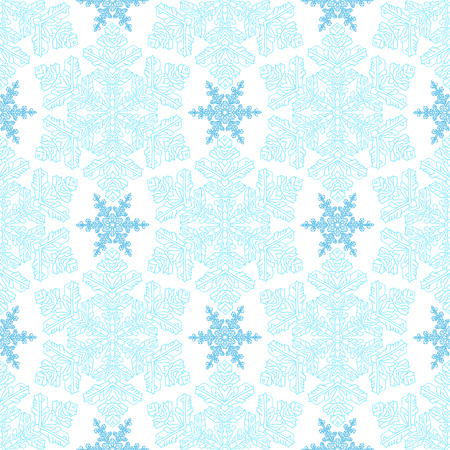 natural color: Hand-drawn doodles natural color snowflake seamless. Zentangle mandala style. Vector illustration. Good idea for greeting cards, invitations, prints, textiles, tattoo. Illustration