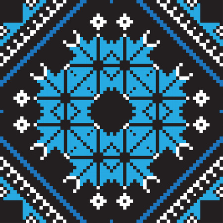 belorussian: Ethnic ornament, seamless pattern. Vector illustration. From collection of Balto-Slavic ornaments